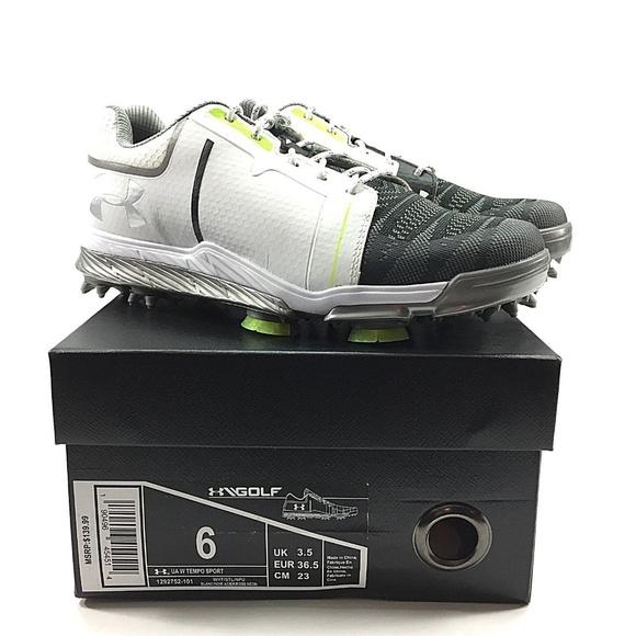 8b7fb771b1a Under Armour Womens UA Tempo Sport Golf Shoes